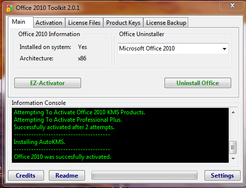 Hacking Microsoft Office 2010 all version activation | 1A20 com