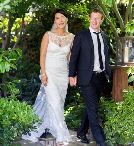 facebook owner married sweetheart day after his company IPO May 19th 2012