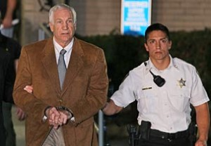 Jerry Sandusky convicted of 45 counts will serve 500 years in jail