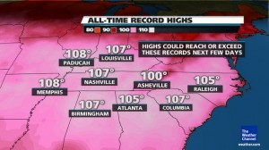East Coast June 29th 2012 heat wave toward July 4th week record heat of up to 110 degree plus humidity