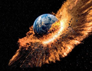 the earth will blow up separated into two pieces in 12/21/2012 without any warning the only warning we got were those predictions by all the famous calendars 12/21/2012