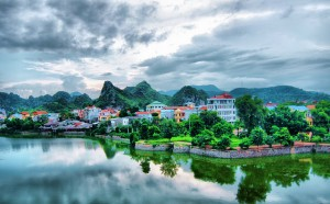 Beautiful morning in Vietnam 2012 in the city near a lake Vietnam Travel Guide