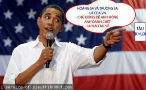 USA president Barak Obama speaks in Vietnamese said Hoang Sa and Truong Sa islands belong to Vietnam July 2012