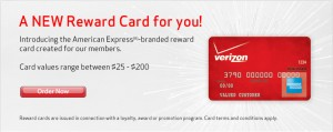 Use your verizon fios reward card or rebate credit card right away before it expired