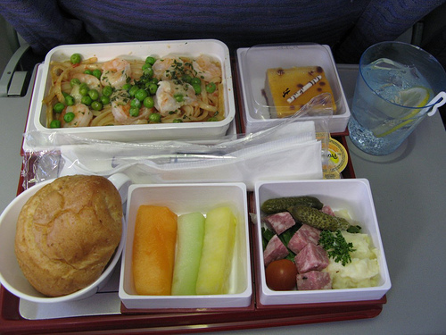What happens to the airplane food that is not eaten 19