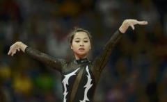 Vietnam balance beam during the women's gymnastics in London 2012 Olympics