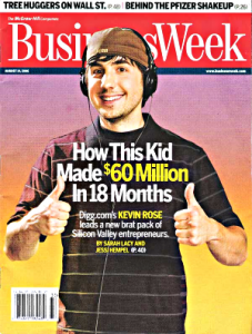 Kevin Rose make $60 million in 18 months using computer and the internet with digg.com