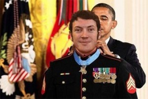 Fake James Holmes given metal of honor by the White House for killing dozens of people at movie theater in Aurora Colorado