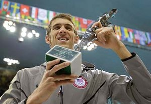 michael phelps saids hard work & relentless dedication earned him 22 gold metals which ends his career with special trophy london olympics 2012