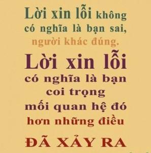 loi xin loi khong co nghia la ban sai nguoi khac dung, loi xin loi co nghia la ban coi trong moi quan he do hon nhung dieu da xay ra