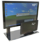 HDTV LED LCD TV use as a computer monitor what's the side effect and impact can it be done?