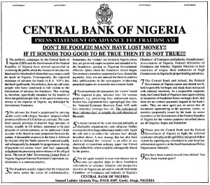 nigerian scam is going on and does people fall for it apparentally so so watch out for nigerian scam what you can do about it