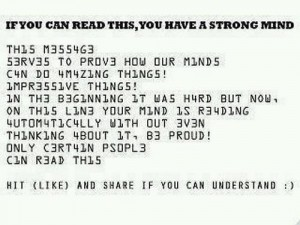 if you can read this you have strong mind mixtures of # and alpha characters don't pay too close attention then you can read it :)