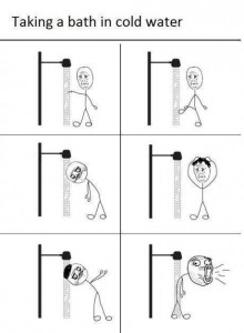 taking a bath in a cold shower how to it's very funny pay attention to the detail