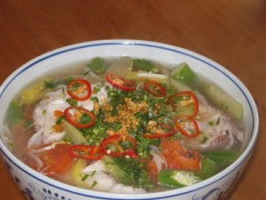 Canh Chua Ca - Ca Loc - Ca Bong Lau - Ca Tre - all kind of fish can be - add spice or pineapple to netralize stinky fish