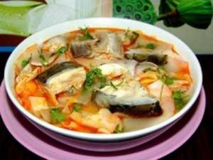 Canh Chua Ca Lang - Cá lăng – món ngon đất Tây Nguyên