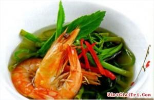 Canh Chua Tom Rau Muong