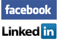 your linkedin account will link to facebook automatically and companies will see all what you're posting on facebook