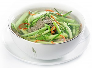 Canh Chua Rau Nhut - very rare name vegetable Rau Nhut - but it has distinct tast of sour soup