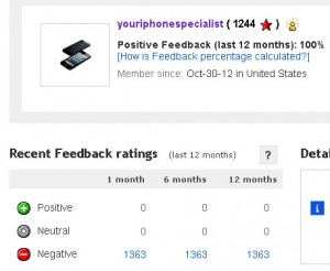 the real ebay feedback as buyer for user youriphonespecialist