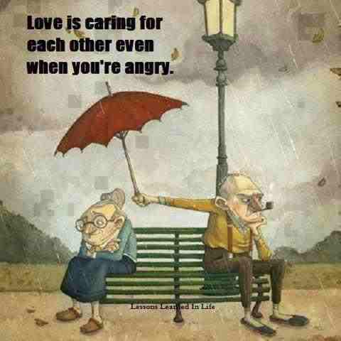 loving is caring for each other even when you're angry