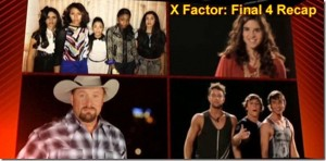 X-Factor winner top 3 for December 13th 2012 Thursday are Tate, Fift Harmony and