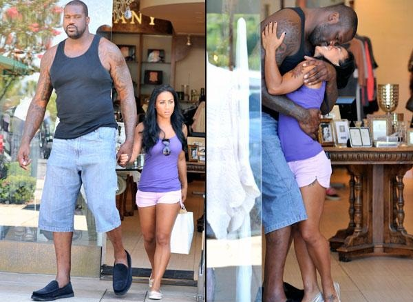 Shaquille O'Neal's girl friend is about the size of this leg true love can that girl handle it? look like she has tattoo so I guess she can handle it LOL