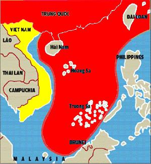 Cow Tongue map printed on China passport indicating the whole south china sea belong to China it's a head of a cow
