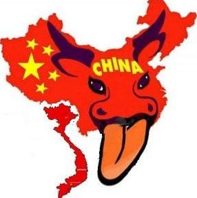 red fire bloody water buffalo or cow tongue map of china taking over all of china sea will vietnam communist respond?