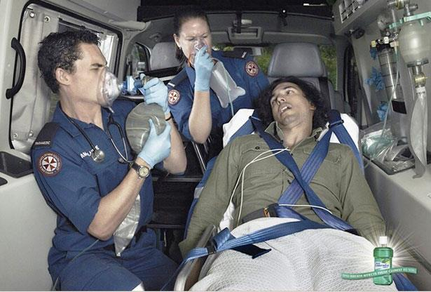 patient in an ambulance with bad terrible horrible breath what do you do? while the patient trying to breath? is this possible LOL