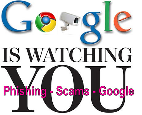 google is watching you on your every keystroke web surfing what you're doing online so watch out you're not safe on the internet