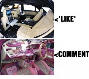 The most high tech car and the most girlie car