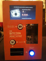 cashing my BTC Bitcoin on an ATM machine which will be in use soon to the public