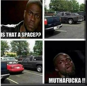 Is that an available parking space ... muthafacka!