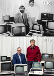 Bill Gate 1981 versus 2013