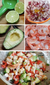 simple healthy meal seafood vegie and all