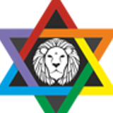 colorful coingeneration.com Digital Generation logo with six stars and a lion in the middle meaning?