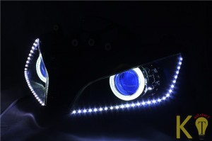 LED light strip for your car headlight customization samples and ideas