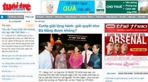 tuoitre online vietnamese news media TTO has been hacked DDOS
