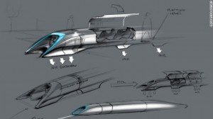 high speed travel through tube from San Francisco to Los Angeles in 30 minutes