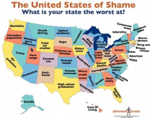 the united states of shame what is your state worst at?