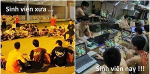 this picture from Vietnam and I'm sure from around the world also dictate life style of people specifically students 10-20 years ago versus today