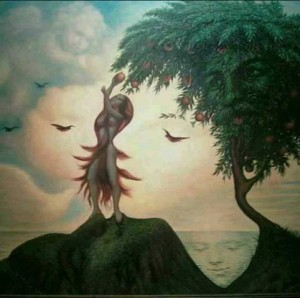 how many faces do you see in this picture painting this is very creative whoever behind this picture must have work very hard