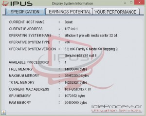 preview look of the software from IPUServices ready for download java js