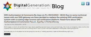 coingeneration.com digitall generation dg are making payments took actions to prevent fraudulent