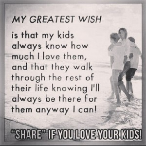very true parents should be there for their children no matter what