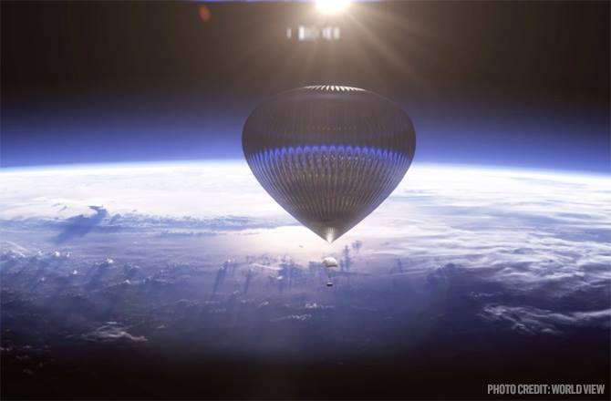 hot air balloon go as high as you want and even near space?