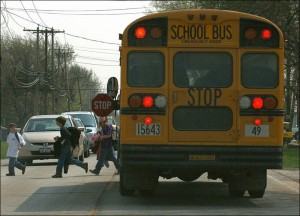 Oakcrest Coatesville PA Dogue Farm white Grand Am ignore school bus red light flashing with stop sign reckless driver
