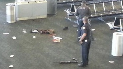 Los Angeles airport shooting captured on security camera and social media posting from mobile phones