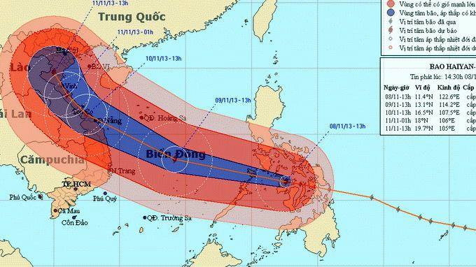Central and North Vietnam prepare yourself for a powerful hurricane heading your way!